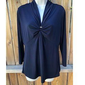 🦋Jaclyn Smith deep blue blouse size medium 🦋